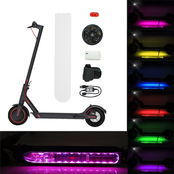 For Xiaomi M365 Electric Scooter Bluetooth Night Safety Light LED Strip Flashlight Bar Lamp Skateboard Night Safety Light K