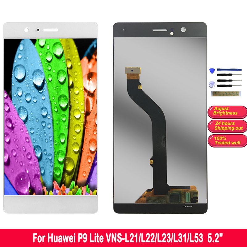 5.2 HD Display LCD For Huawei P9 Lite Screen LCD Touch Digitizer Assembly VNS L21 L22 L23 L31 L53 LCD Display