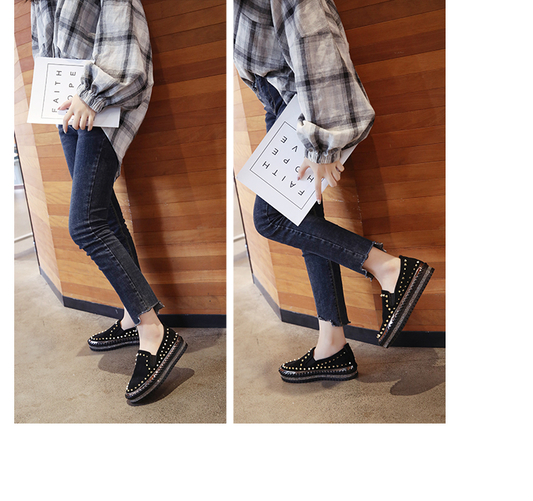 2019 Winter New Women Fur Loafers Comfortable Casual Platform Sneakers 65
