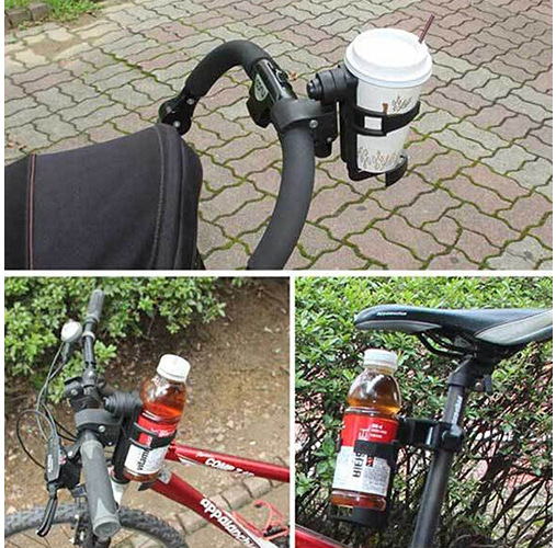 Baby Stroller Cup Holder  Universal Rotatable Holder Infant Stroller Bicycle Carriage Cart Accessory