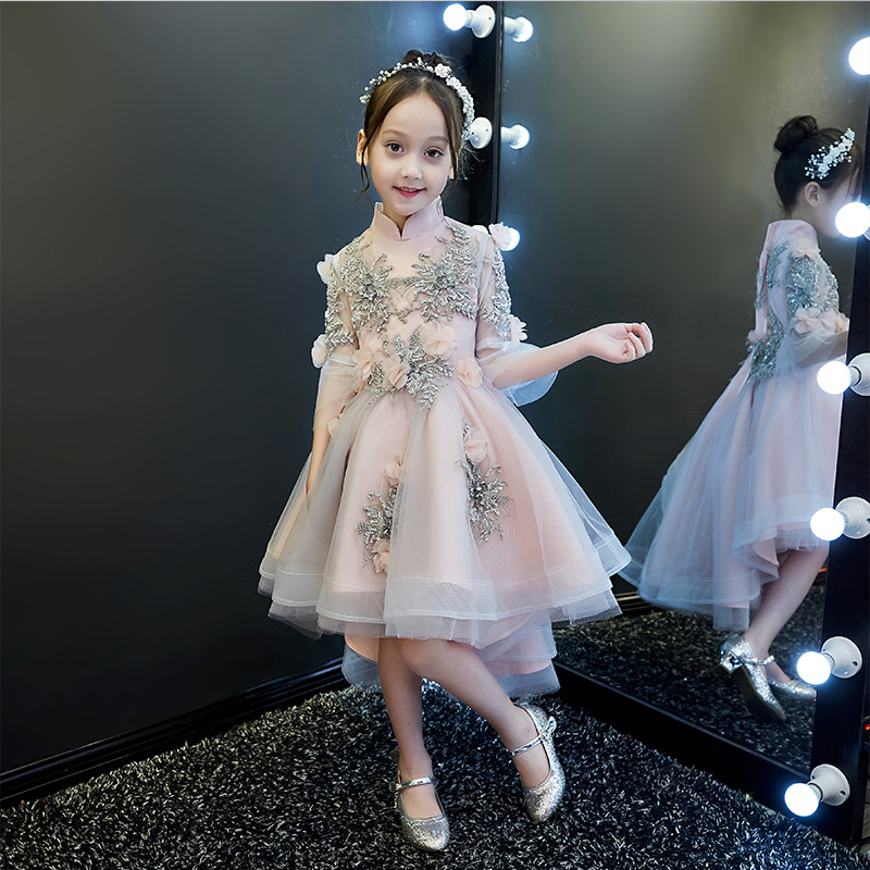CHILDREN'S Dress Princess Dress 2019 New Style Little Flower Girl Piano Puffy Yarn Costume Host Catwalks Late Formal Dress