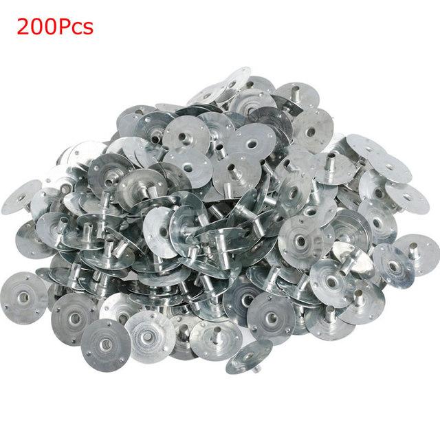 100 200Pcs świeca knot Metal Sustainer Wick Tabs srebrny do odlewania świec prezent 4X7A tanie tanio CN (pochodzenie)