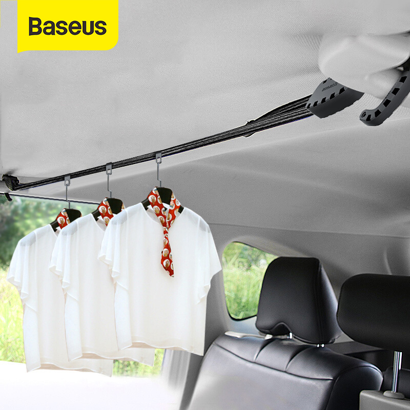 Baseus 3M Strong Elastic Rope Bungee Shock Cord Strap Stretch String Clothes Line With Hooks For Car Travel Outdoor Project Tent