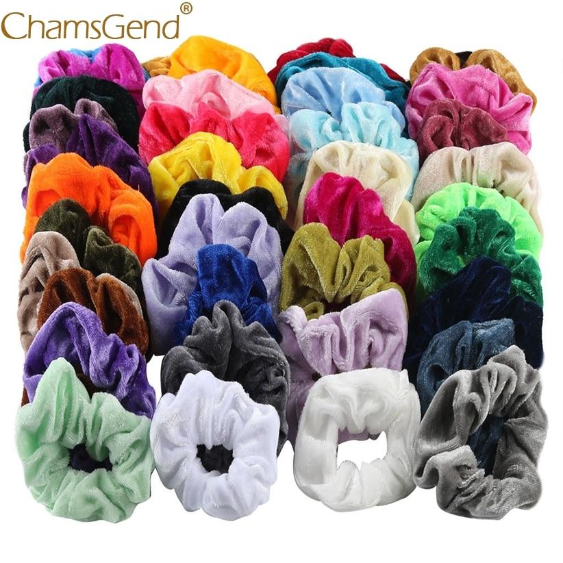 40Pcs/lot Fine Cheap Velvet Elastic Hair Bands Scrunchy Hair Rope for Women Girls Hair Grooming Accessories Whoelsale 90515