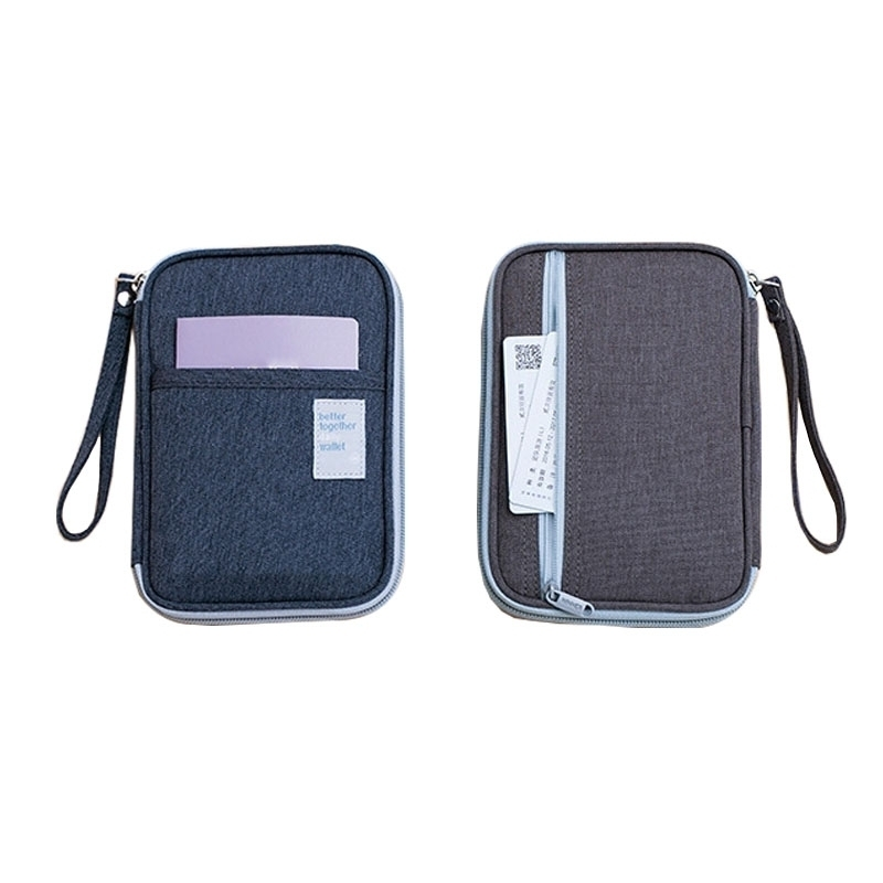 Women Travel Passport Cover Business Card Holder Men Waterproof Oxford Cloth Credit Card Package Wallet Card Case File Bag