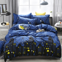 Fashion Classic Black Grid Bedding Set Double Queen King Bed Linen Soft Duvet Cover Pillowcase Flat Sheet For Adult XHS0126