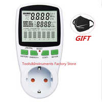 Digital LCD Energy Meter Wattmeter Leistung Strom Kwh Power Meter EU Französisch US UK AU Mess Outlet Power Analyzer
