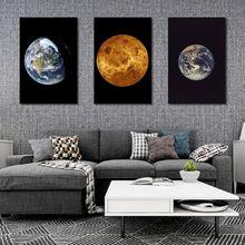 Холст с изображением земли и Вселенной картина ночного неба