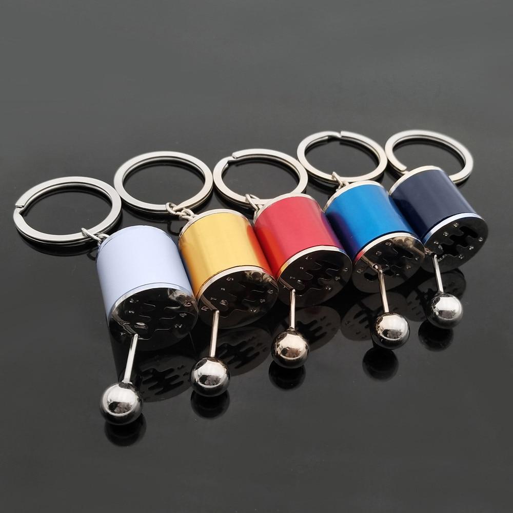 Black Gear Knob Gear Shift Gear Stick Gear Box Metal Key Ring Key Chain Mini Hot