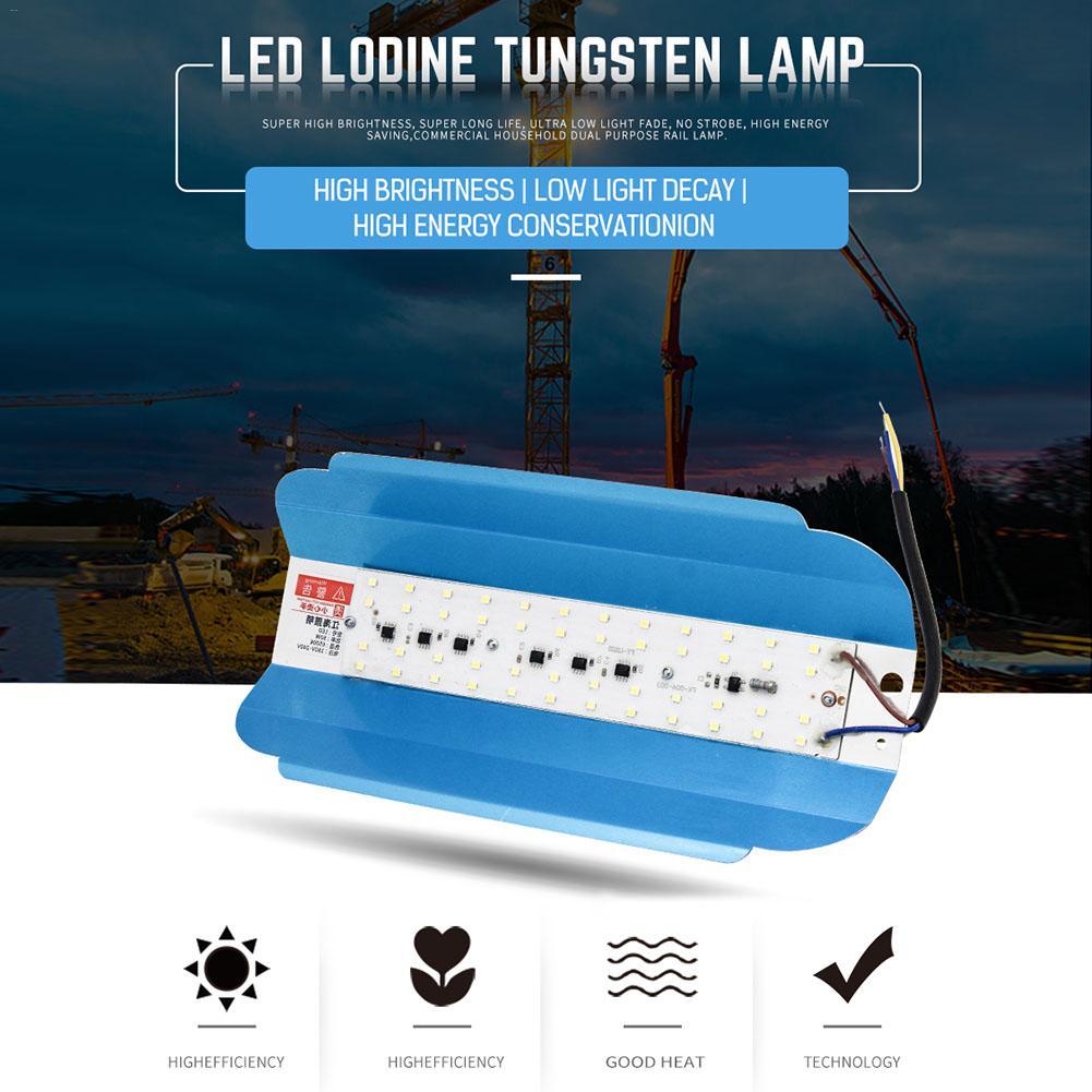 5/10PCS LED Iodine Tungsten Lamp 50/100W Cold Light AC 220V LED Outdoor Lighting Construction Site Lighting Garden Floodlight