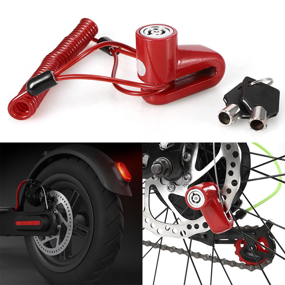 Anti-theft Security Scooter Wheels Lock Electric Scooter Bikes Motorcycles Disc Brake Lock Chain Ring Lock