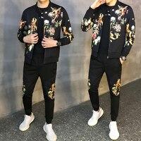 Tracksuit Male Tracksuit Asian Size Moda Hombre 2020 New Men's Set Autumn Man Sport 2 Piece Sets Sport Suit Jacket + Pants