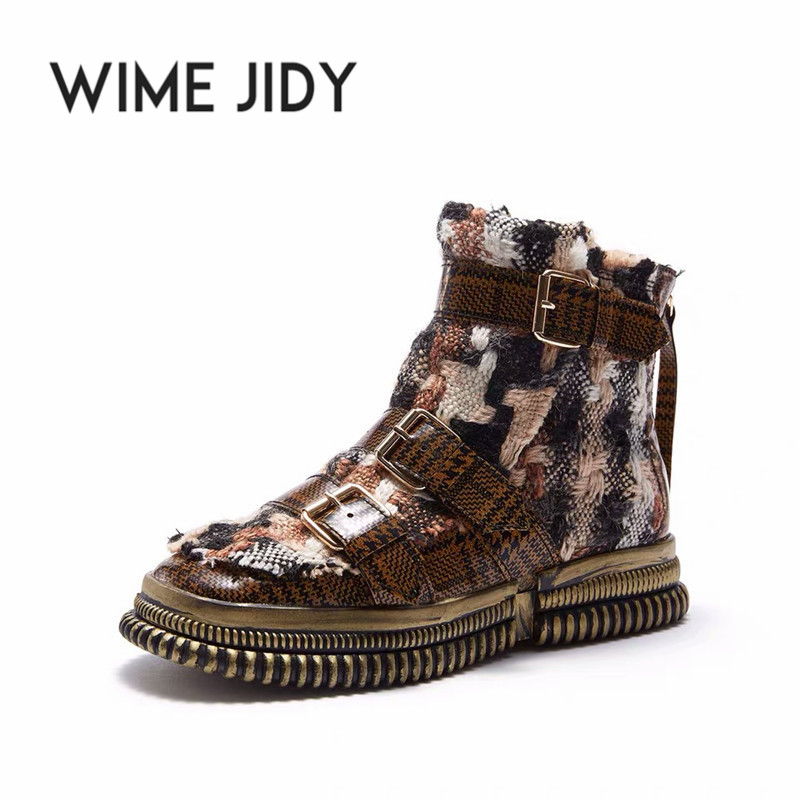 Fashion Martins Boots Women Boots Ankle Chammy Womens Booties High Top Sneakers Female Fashion 2019 Schoenen Vrouw Echt Leer
