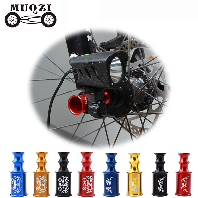 MUQZI <font><b>Bicycle</b></font> <font><b>Hub</b></font> Quick Release Axis Front Wheel Lamp Holder Cycling Bike Extender Extension Light Mount image