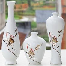 Simple home decoration decoration vase three-piece creative ceramic art coffee table porch furnishings