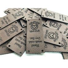 55 шт кожаные этикетки для вязания персонализированные бирки