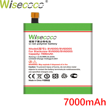 Wisecoco BV6000 7000mAh New Production Battery For Blackview BV6000 BV6000S Phone High quality Battery Replace+Tracking Number wisecoco bv9000 2pcs 7150mah new produced battery for blackview bv9000 bv 9000 pro high quality phone battery replace tracking