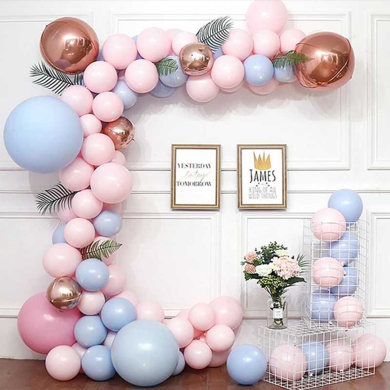 5m אביזרי בלוני בלון שרשרת PVC גומי יום הולדת מסיבת חתונה רקע קישוט בלון שרשרת קשת קליפים קישוט S
