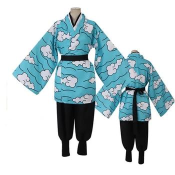 Anime demonio asesino Cosplay traje Unisex conjunto carácter Kimetsu No Yaiba Kamado Tanjirou Kimono hombres disfraces Cosplay para mujeres
