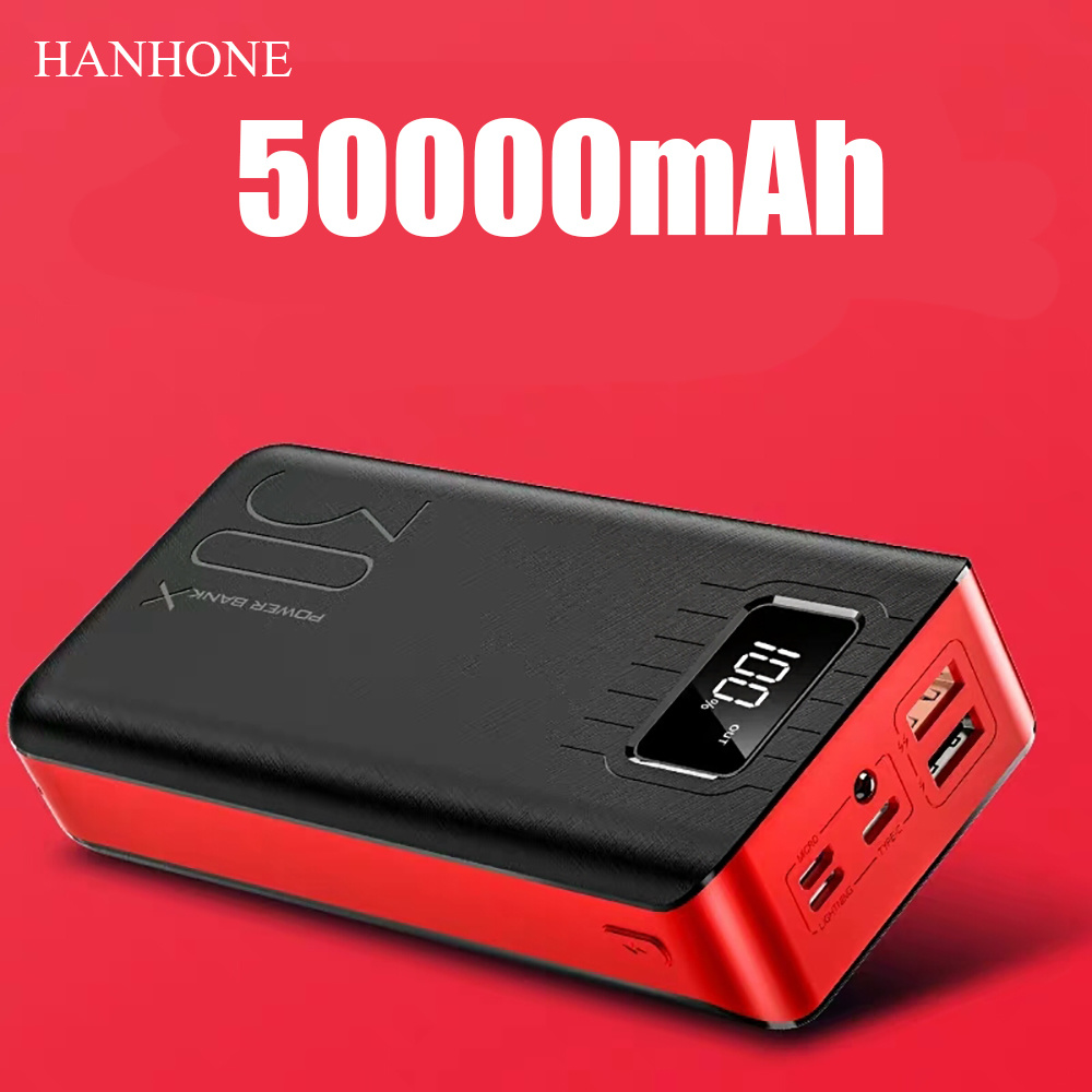 Power-Bank External-Battery-Charger 50000 Mah iPhone 6s Xiaomi Portable USB for Mi-9/8 title=