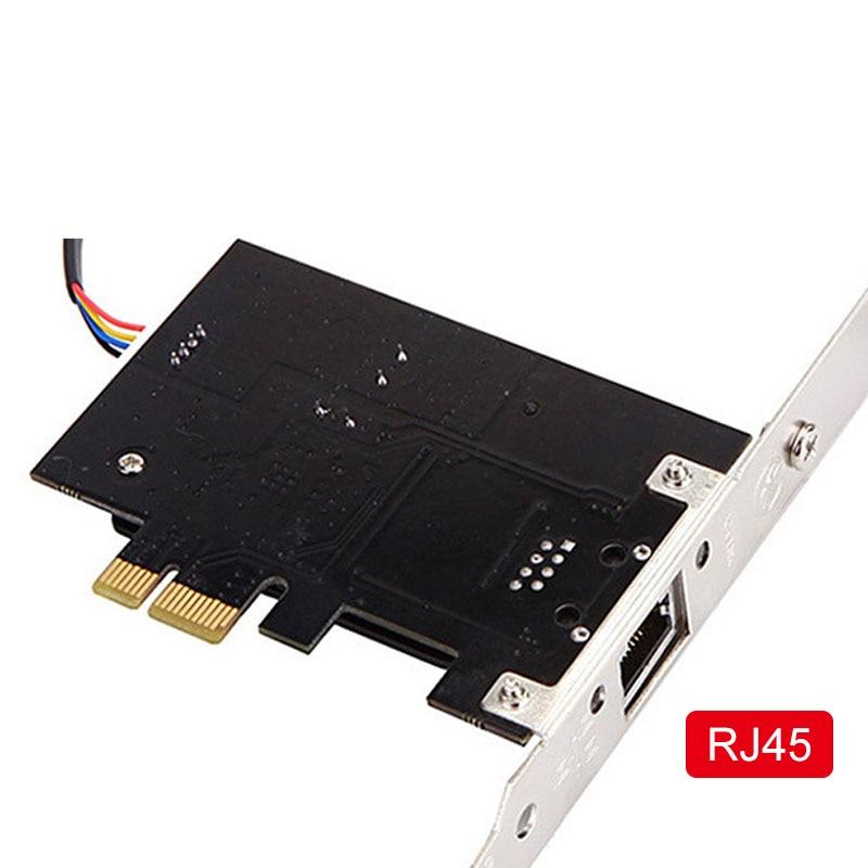 Image 5 - Многофункциональный 10/100/1000 Мбит/с PCI E PCI Express до RJ45 гигабитная сетевая карта с пультом дистанционного управления вкл./выкл. Настольный ПК-in Сетевые карты from Компьютер и офис