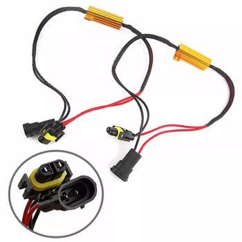 1 par de resistores de carga de coche H11, cancelador de errores H8 LED, decodificador Canbus, carga libre de niebla, resistencias de cableado, decodificador de arnés
