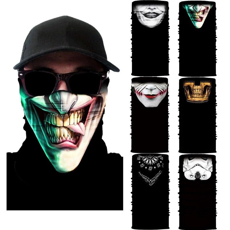 Высокая эластичность 3D Бесшовные Бандана Череп Велоспорт Мужчины Женщины Мужчины головные уборы буффы маска для лица головной платок Лыжный туризм Волшебные банданы Балаклава|Шарфы|   | АлиЭкспресс