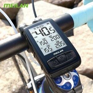 Image 5 - Беспроводной Велосипедный компьютер M4, велосипедный измеритель скорости с датчиком скорости и частоты вращения, можно подключить Bluetooth ANT + (установить монитор сердечного ритма)