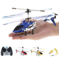 S107G Mini RC Helicopter 3.5CH Mini Drone Indoor Co Axial Metal RC Helicopter Built in Gyroscope Remote Control Toys for Kids