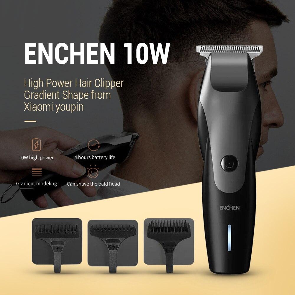 Mijia ENCHEN USB Charging Hair Trimmer Clipper 10W High Power Men Beard Trimer Hair Cutting Machine Haircut 01 Hair Trimmers     - title=