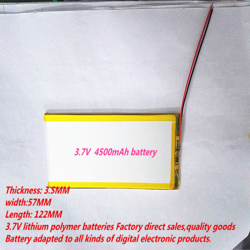 Best Battery Brand Free Shipping 3557122 Lithium Polymer Battery 3.7V With A Tablet PC  V811V801 Paul 4500mAh Battery