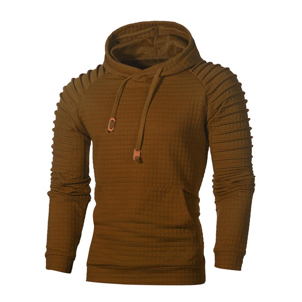Men Fashaion 3D Math Printing Hooded Long Sleeve Sweatershirt  Jumper Top Blouse