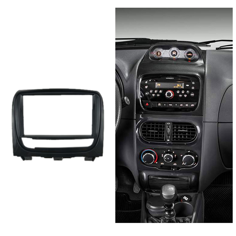 Double Din Car Radio Fascia for FIAT STRADA DVD Panel Refitting Car Kit Audio Frame