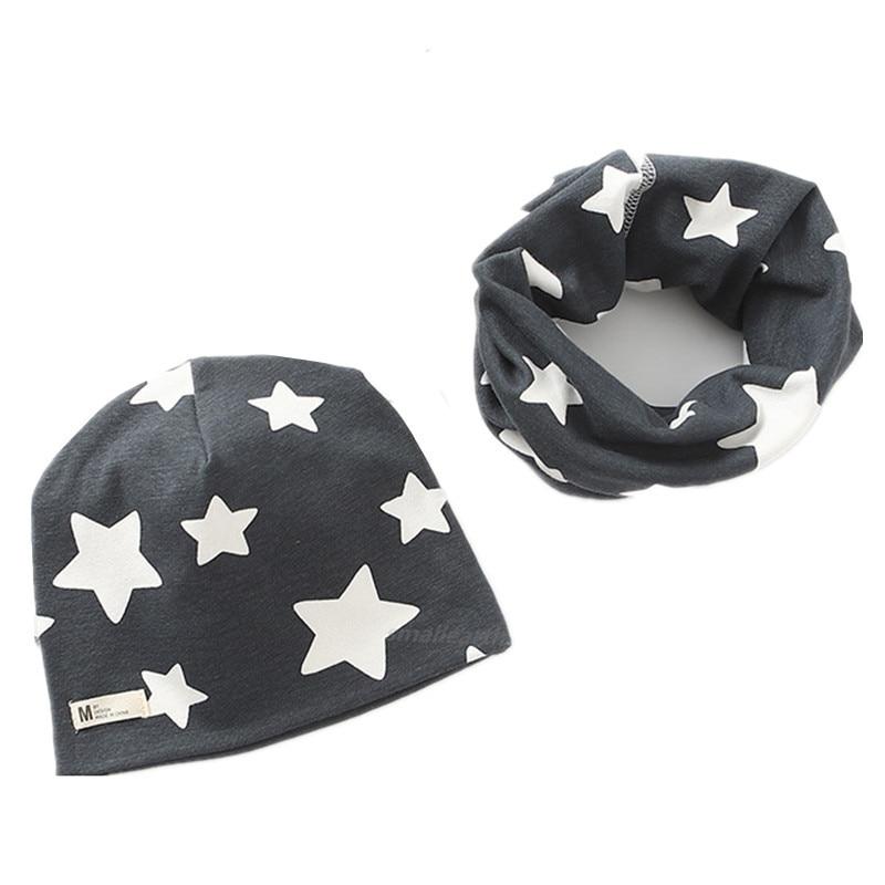2Pcs/Set Plush Girls Hat Scarf Sets Children Crochet Cotton Hats Autumn Winter Girl Boys Warm Caps Kids Cartoon Hat Collars Sets