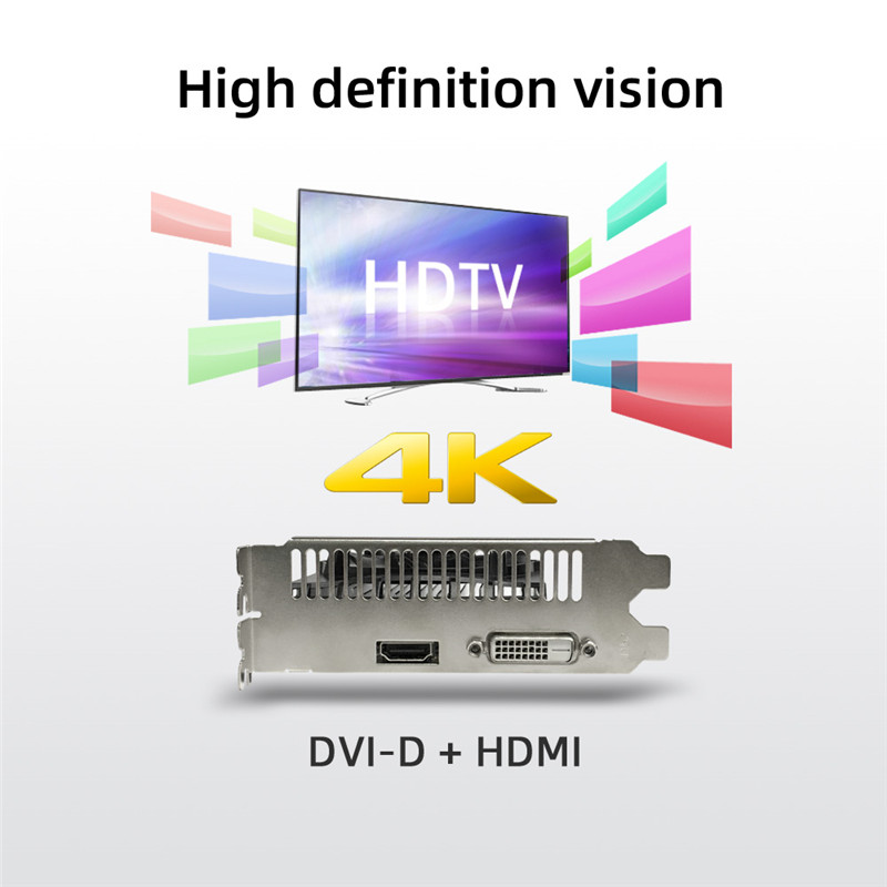 Yeston Video Card GT1030 4G/64bit/DDR4 Gaming Desktop computer PC Video Graphics support DVI/HDMI-compatible 1152/1380MHz 14nm 2