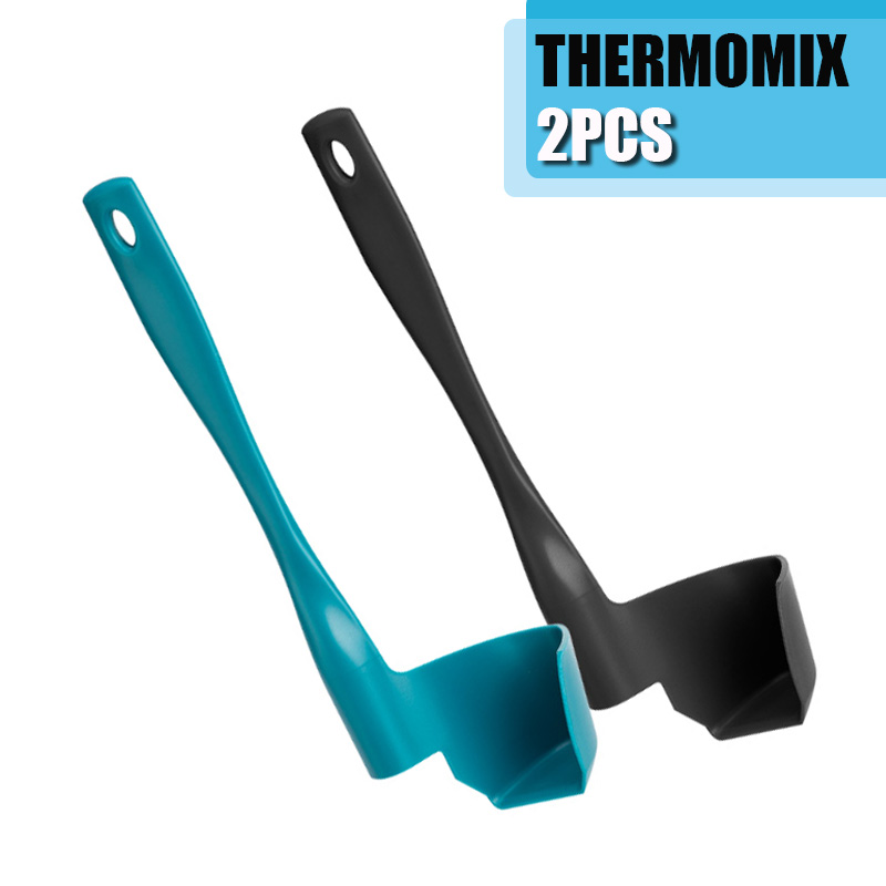 2Pcs Kitchen Thermomix TM6/TM5/TM31 Rotating Spatula For Kitchen Mixing Spatula Termomix