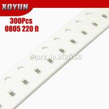 300PCS 0805 SMD Resistor 1% 220 ohm 1/8W 220R 221