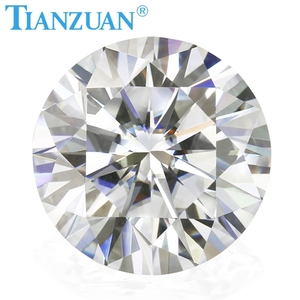 6.5mm DF couleur blanc rond brillant coupe moissanite pierres précieuses en vrac