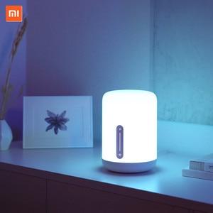 Image 2 - Xiaomi Mijia Bedside Lamp 2 Smart Light voice control touch switch Mi home app Led bulb For Apple Homekit Siri & xiaoai clock