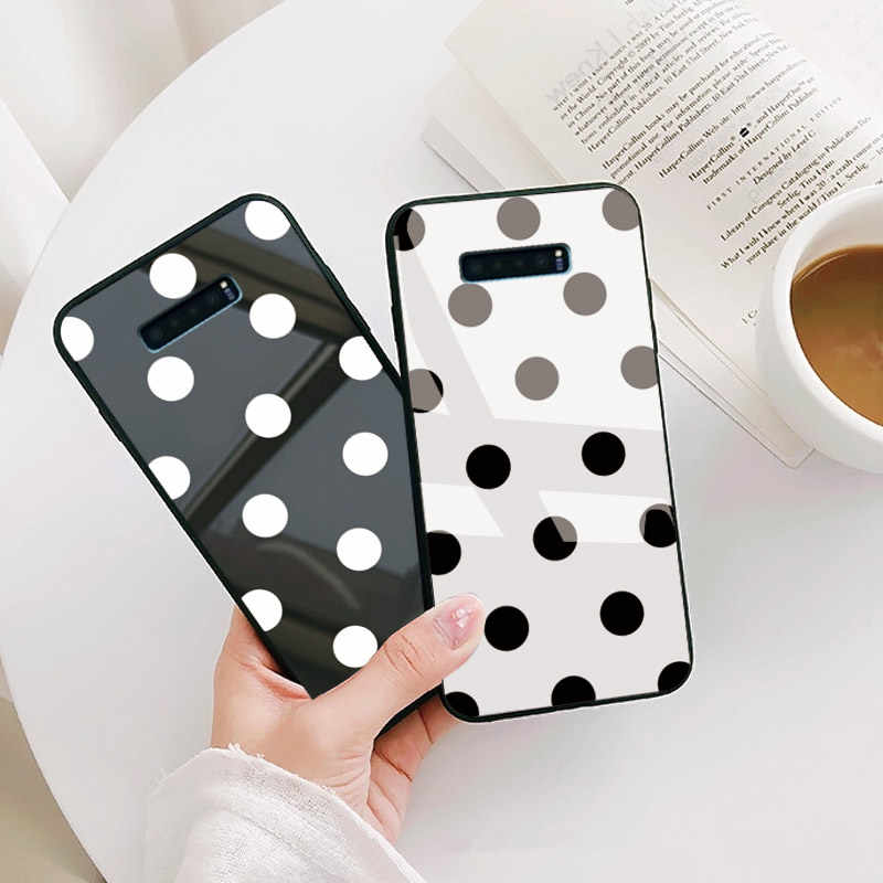Caso de teléfono para Samsung Galaxy A50 A51 S6 S7 borde S8 S9 S10 S11 Plus Lite Nota 8 9 10 Pro j4 j5 2017 cristal funda trasera con corazón de amor