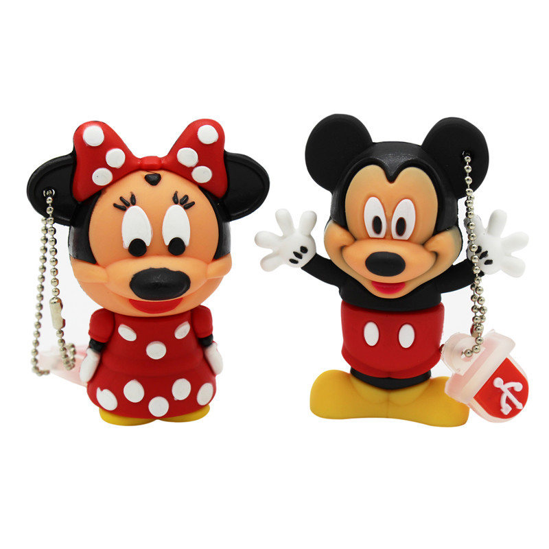 TEXT ME Cartoon  64GB  Cute Minnie And Mickey USB Flash Drive 4GB 8GB 16GB 32GB Pendrive USB 2.0 Usb Stick