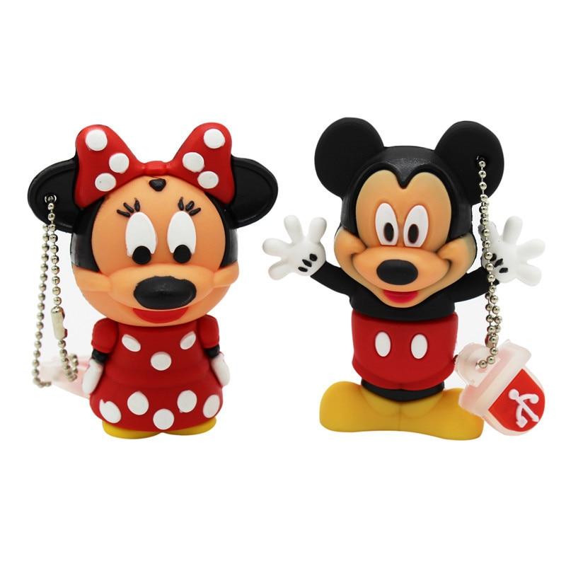 TEXT ME Cartoon  64GB  Cute Minnie And Mickey USB Flash Drive 4GB 8GB 16GB 32GB Pendrive USB 2.0 Usb Stick