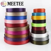 Meetee 8Meter 25mm Hohe Qualität Nylon Gurtband Band Fischgräten Muster Spitze Band Band DIY Tasche Strap Nähen Gürtel zubehör