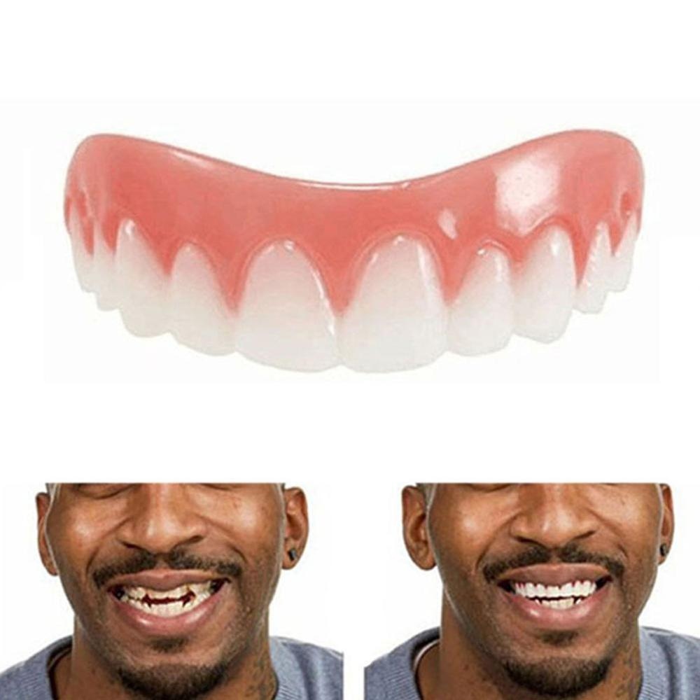 1 Pc Smile Denture Cosmetic Teeth Comfortable Veneer Cover Upper Teeth Whitening Snap On Smile Teeth Cosmetic Denture