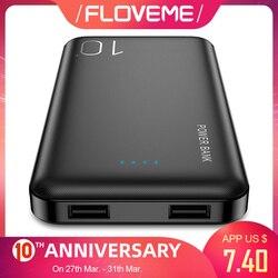 FLOVEME Power Bank 10000mAh dla iPhone powerbank xiaomi zewnętrzny zestaw akumulatorów przenośna ładowarka mi Powerbank Poverbank Power Bank w Powerbank od Telefony komórkowe i telekomunikacja na