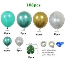 1 Set 167Pcs Jungle Safari Theme Party Supplies Green Balloons Garland Bow Kit for Birthday Baby Shower Forest Party Christmas(China)