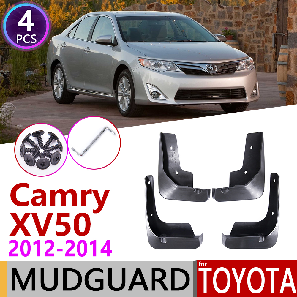 4 PCS Front Rear Car Mudflap For Toyota Camry XV50 50 2012 2013 2014 Fender Mud Flaps Guard Splash Flap Mudguards Accessories