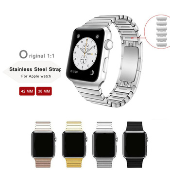 цена на Stainless Steel link strap for Apple Watch band 4 44mm 40mm Steel strip iwatch 5 4 3 band 42mm 38mm 36L metal watchband Bracelet