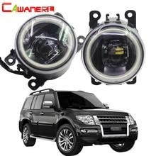 Cawanerl Auto Accessoires 4000LM Led Lamp Mistlamp Angel Eye Dagrijlicht Drl 12V Voor Mitsubishi Pajero 4/Iv 2007 2015