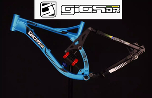 GIOSBR STAGE 2 Downhill Bicycle Shock Full Suspension MTB Frame 26-27.5 Downhill Bicycle for AM XC GIOS BR downhill bike frames(China)